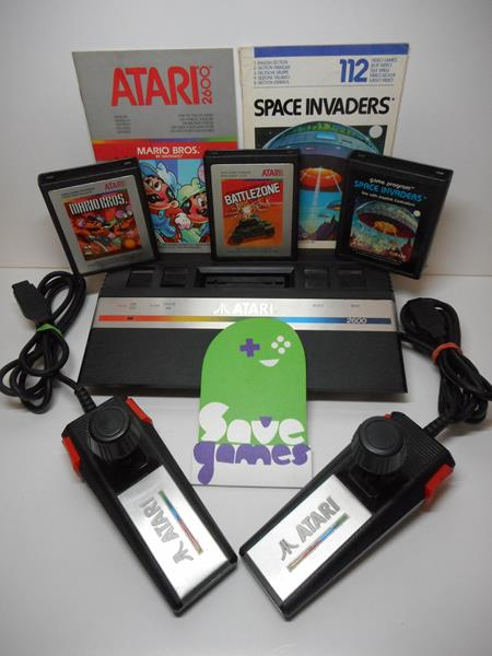 Atari 2600 boxed 3 games save games - Atari game console for sale ...