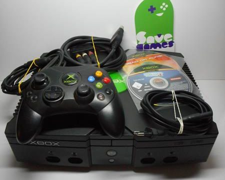 Microsoft Xbox Video Game System + 2 Games