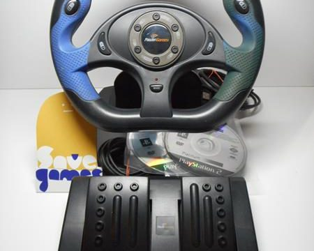 Power Games Racing Wheel for Playstation PC + 2 Games-2